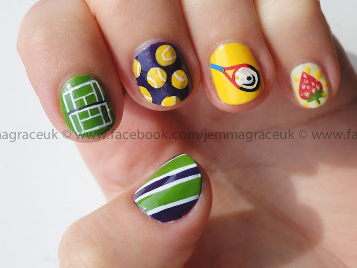 17 best tennis images on pinterest nail arts sports nail art wimbledon nails prinsesfo Choice Image