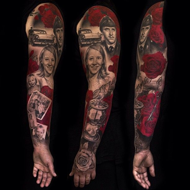 Portrait Sleeve Tattoo Designs: 78+ Images About Rose Tattoo On Pinterest