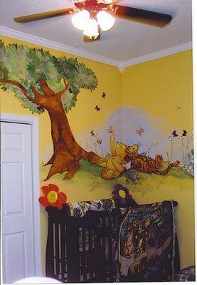 Murals & Faux Finishing - Tips, Advice, and Ideas: Winnie the Pooh Mural Ideas