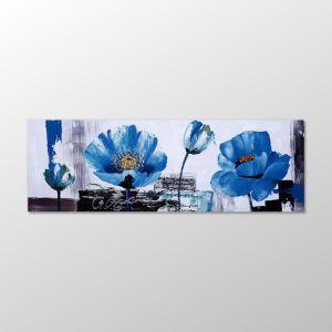 Mavi Çiçekler Yağlı Boya Tablo