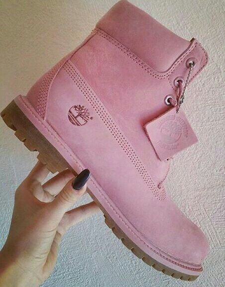 Pink Timberlands Follow me in Pinterest.! @makayla9828