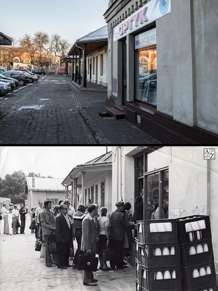 Kolejka na Placu Stefanidesa, Zamość, 1981 r.....zamosckiedysdzis