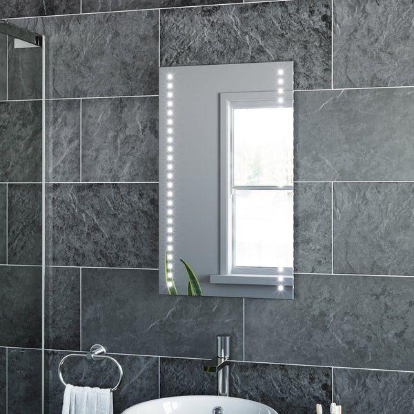 Mode Strutt Battery Powered Led Illuminated Mirror 500 X 390mm Light Up Bathroom Mirror Led Mirror Mirror