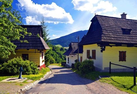 Vlkolínec, Slovakia (village is on World Heritage List)