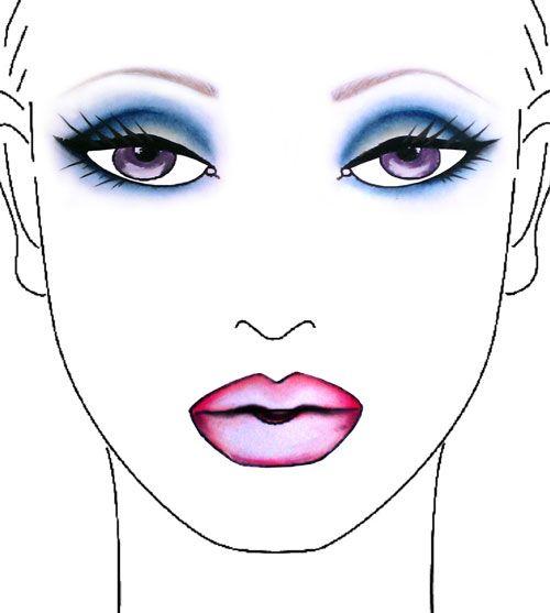 make upDramatic Eye, Eye Shadows, Beautiful, Smoky Eye, Makeup Face, Blue Eye, Mac Facechart, Smokey Eye, Blue Smokey