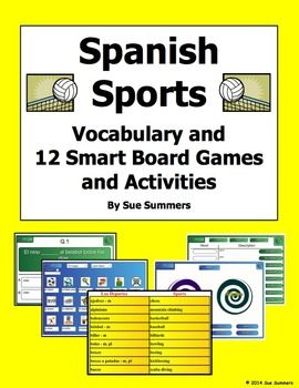 spanish sports smartboard 12 games and activities and vocabulary spanish activities and summer. Black Bedroom Furniture Sets. Home Design Ideas