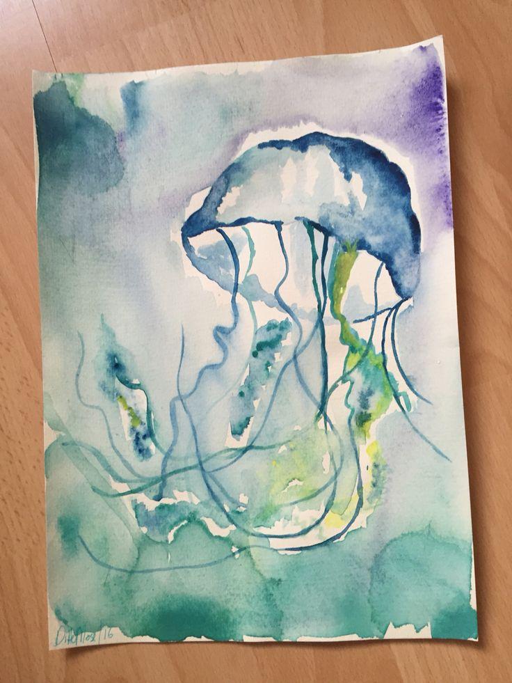 Jellyfish arkvarel