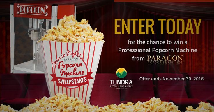 I just entered to win a commercial popcorn maker from @TundraRestaurantSupply & @Paragonconcessions. You should enter too! #contest #paragon #popcornmaker http://woobox.com/dzbb3n