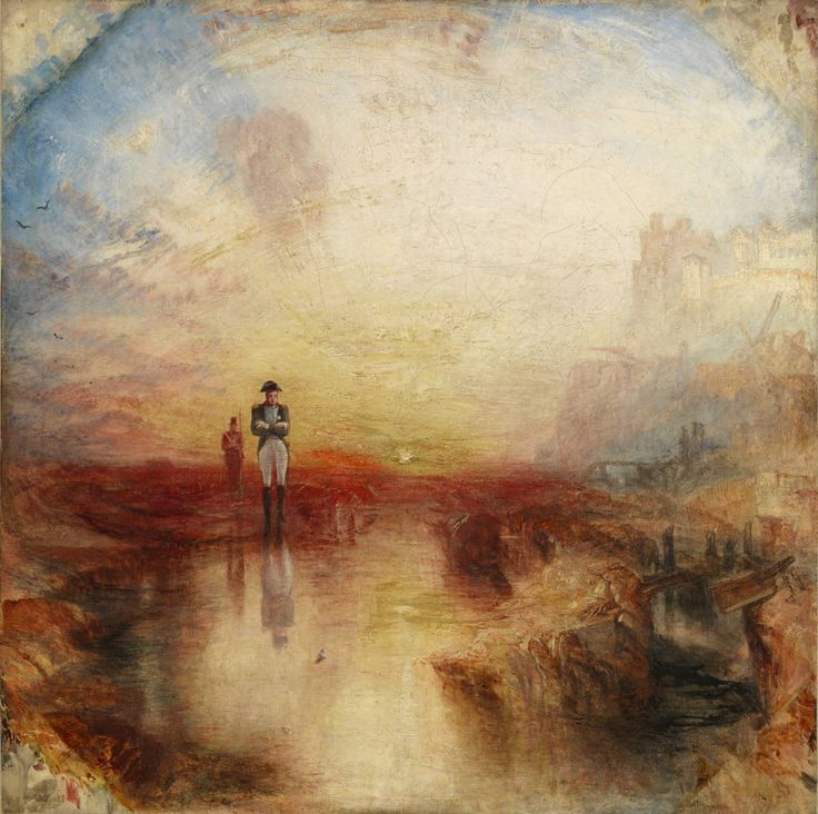 William Turner, WAR, THE EXILE AND THE ROCK LIMPET, 1842, 80 cm x 80 cm, Colore ad olio, Tate Collection