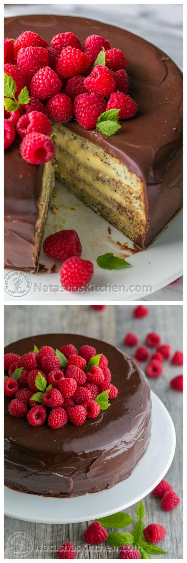 Poppy Seed Sour Cream Cake | NatashasKitchen.com