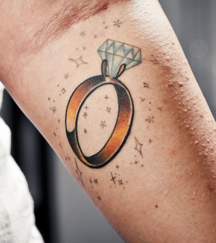Best Unique Wedding Ring Tattoos Images On Pinterest Unique