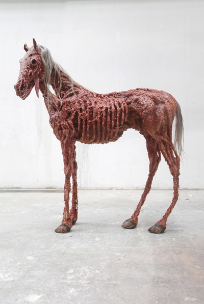 Theo Mercier. Dark art. Skeleton Horse.