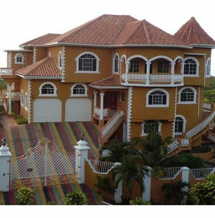 Pin By Jamaican Queens On Jamaican Houses House Styles Caribbean Style House Colors