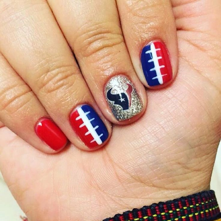 Houston Texan Nail!!! #loveit