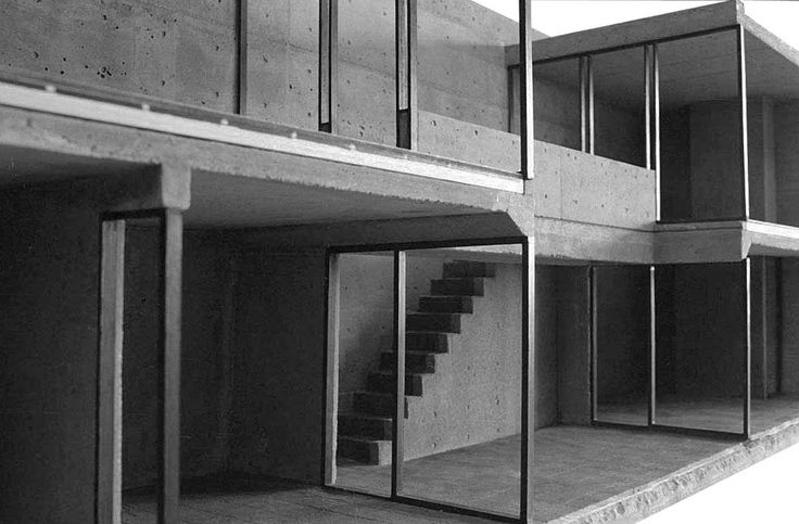 Tadao Ando (Sumiyoshi's tenement house)Model /scale: 1/10  materials Mortar