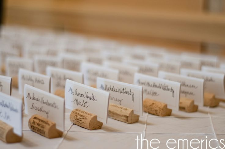 DIY wine cork  place card holders