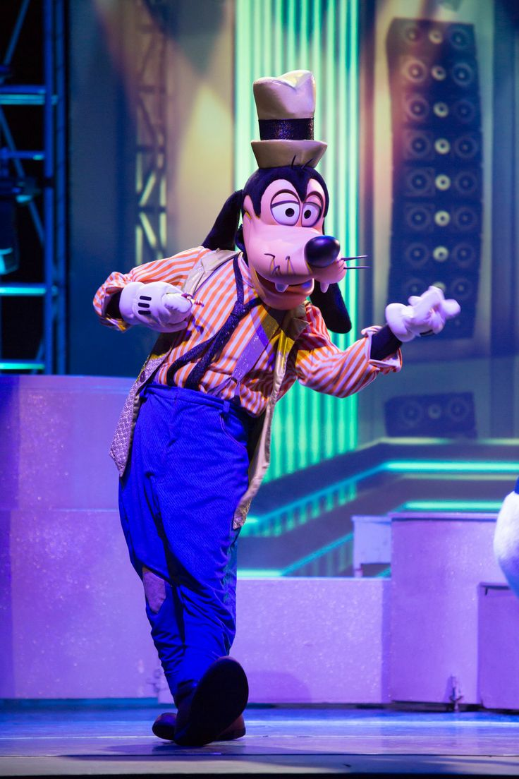 Goofy from Disney Live! Mickey's Music Festival tours the Middle East 2014.
