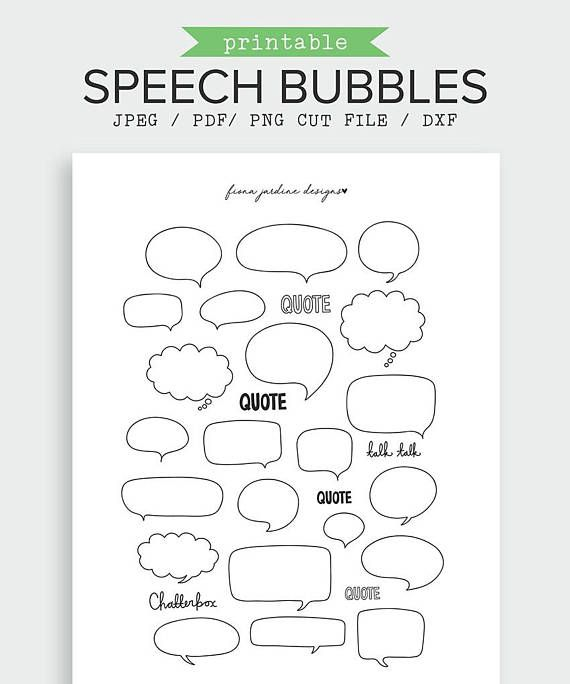 This Speech Bubble themed bullet journal printable sticker pack includes 22 speech/thought bubbles and 6 words. The journal stickers come in a variety of sizes (see image for details) and are provided on one US Letter sized sheet (which is also suited for A4 printing). Speech Bubble Bullet Journal Printable Sticker | Printable Planner Stickers | Thought Bubble | Planner Accessories | Printable Stickers