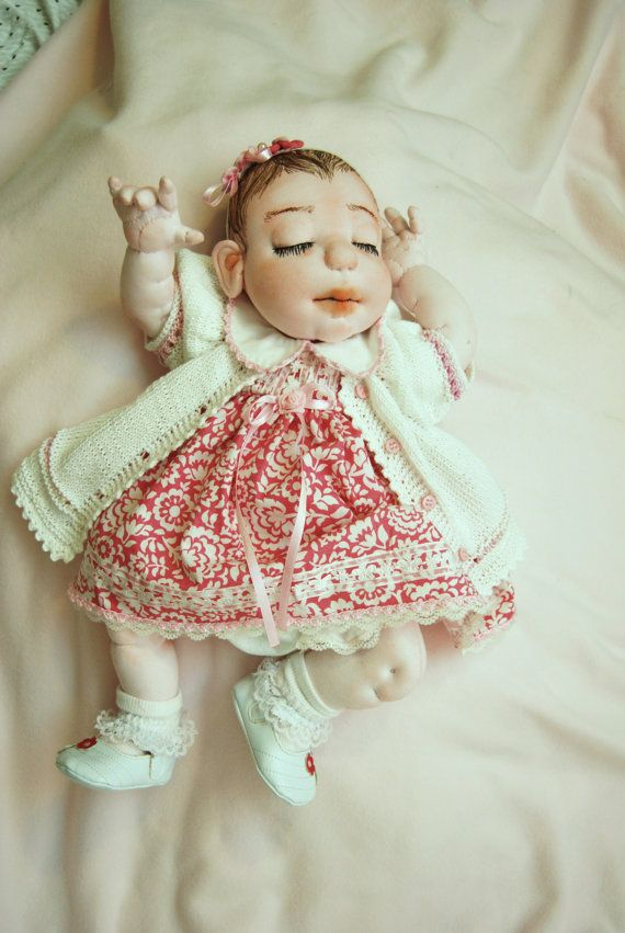 Newborn DollSoftsculptured DollOOAK DollHandmade by MaryUniqueDoll