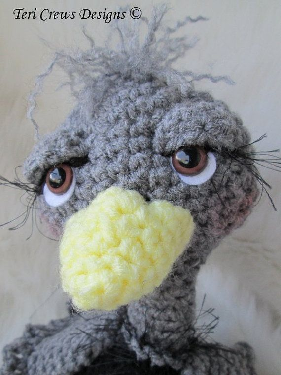 Crochet Pattern Ostrich by Teri Crews Wool and by TCrewsDesigns