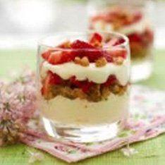 Tarrinas de Mascarpone Galbani y fresas silvestres