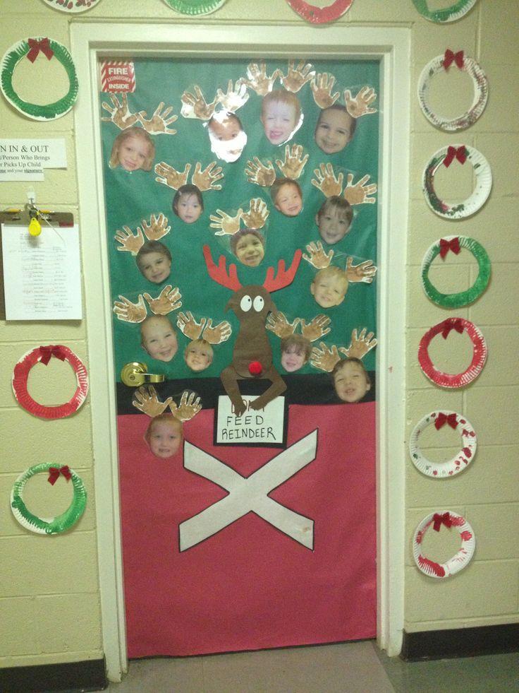 Pinterest Preschool Christmas Door Decoration Teacher