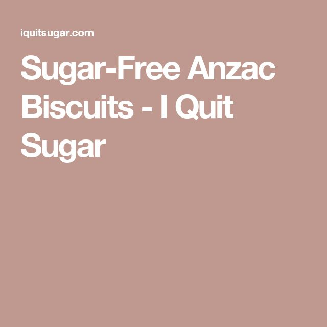 Sugar-Free Anzac Biscuits - I Quit Sugar
