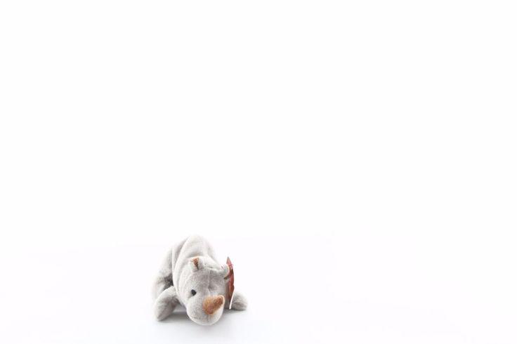 "Ty Beanie baby bean bag plush stuffed animal Spike teenie rhinoceros 5"""