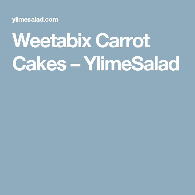 Weetabix Carrot Cakes – YlimeSalad