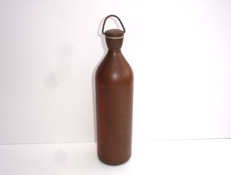 Vintage Water Flask with Screw Cap Lid and Rubber Washer.Vintage Water Container Vintage Camping Vintage Army by FillyGumbo on Etsy