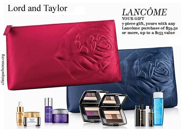 Click GET CODE for the Lord & Taylor offer you want to redeem; Lord and Taylor Free Gift on Orders Over $ with Lancome Purchase Click this link to get free gift on orders over $ with Lancome purchase. Includes free shipping. Restrictions may apply. Activate.