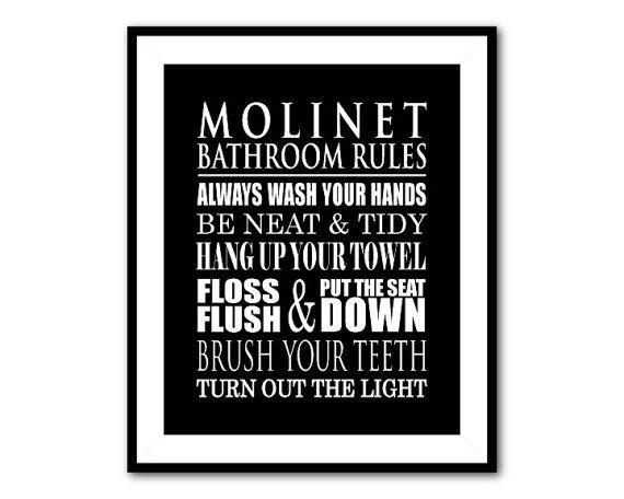 Bathroom Rules Wall Art 27 best bathroom art images on pinterest | bathroom wall art