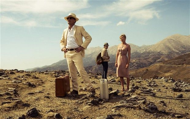 The Two Faces of January: l-r Viggo Mortensen, Oscar Isaac and Kirsten Dunst