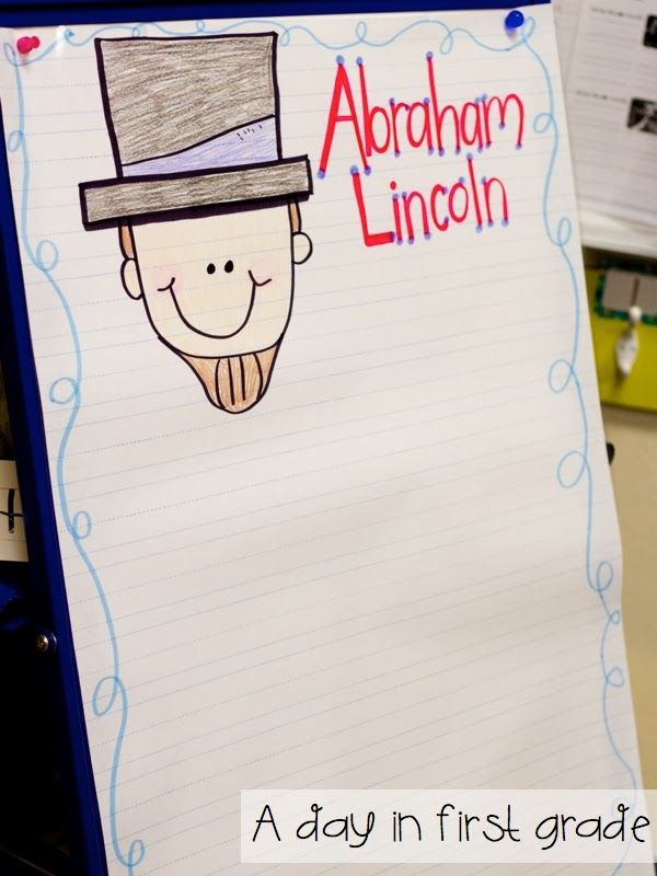 Happy Presidents' Day! Interactive writing about Abraham Lincoln