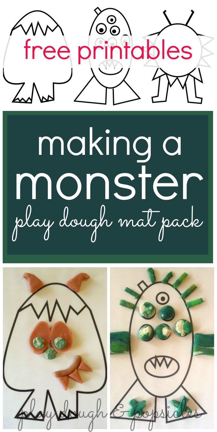 Free Printable: Making A Monster Play Dough Mat Pack. Playdough Mats are fun and invite creativity for children.