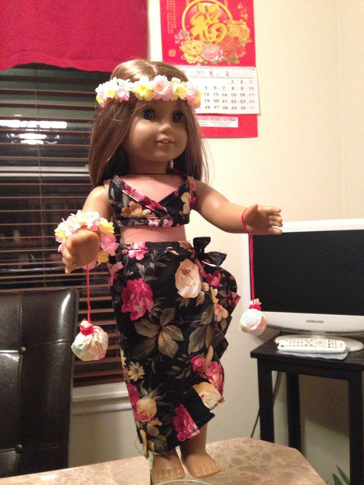 Aloha hula costume