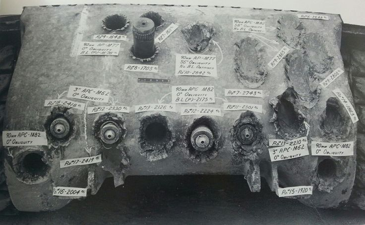 Testing of the front armor of a Jumbo Sherman