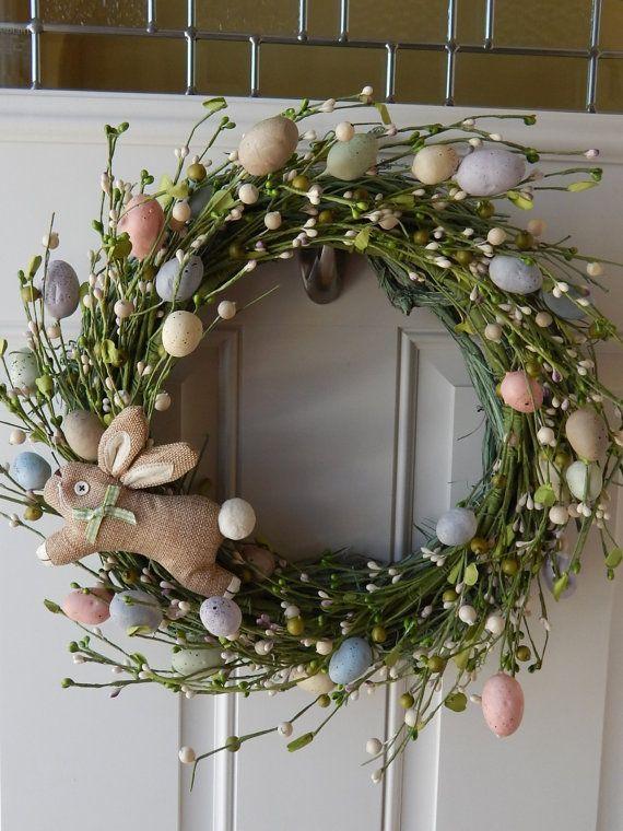 Spring Wreath - Easter Wreath - Egg Wreath - Pastel Wreath #Easter