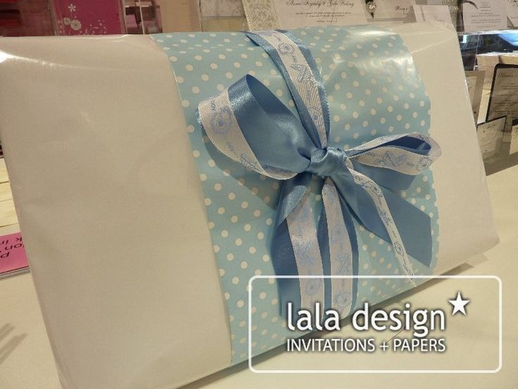 Baby boy gift wrapping