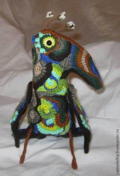 Игрушки животные, ручной работы. Ярмарка Мастеров - ручная работа игрушка вязаная фриформ Ворон Кутх. Handmade.
