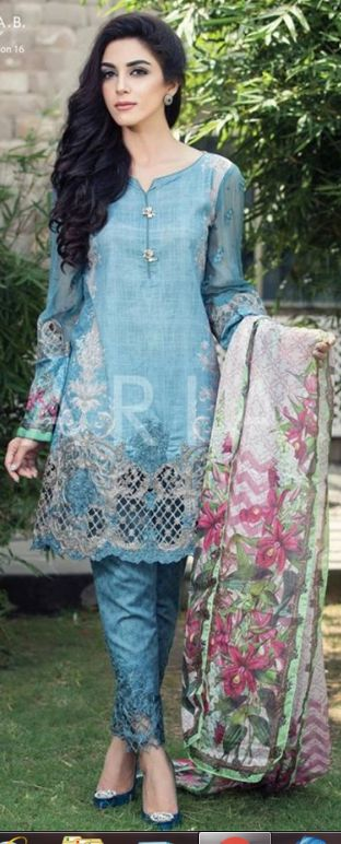 Beautiful Maria B Designer Silk Chiffon Dresses For Eid 2016 #EidDresses #DesignerEidDresses