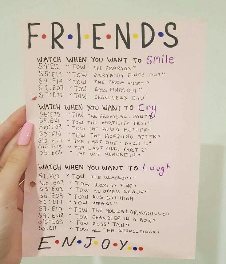 Episoden, die Sie sehen sollten, wenn Sie weinen, lachen oder lächeln möchten
