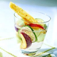 White Sangria Punch   123 cal per serving, a somewhat healthy summer sangria recipe