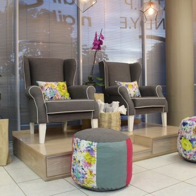 Nice chairs! Pedicure Station ideas | home nail salon decor ideas  | nail technician room ideas