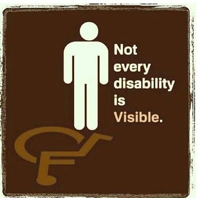 It is important to remember that not every disability is visible.