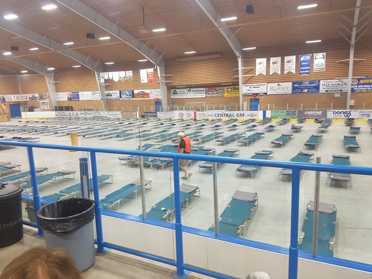 100 mile house rec centre set up as evacuation centre. So sad to see it this way. Gustafson wildfire, B.C.wildfires 2017