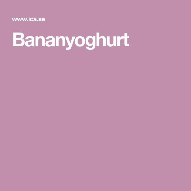 Bananyoghurt