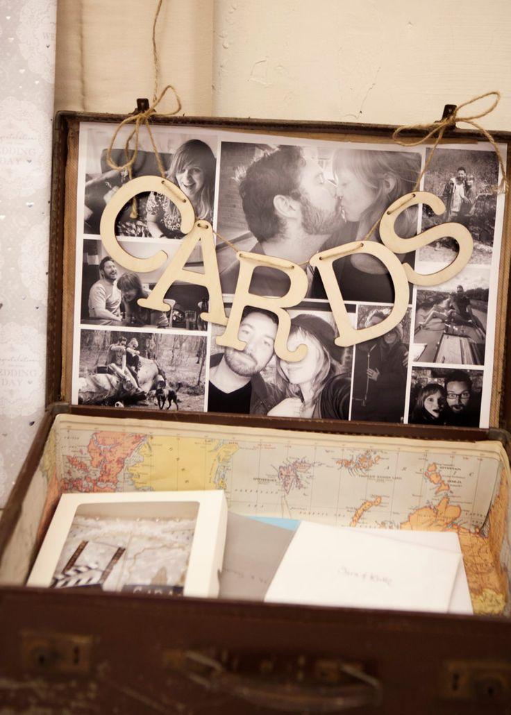 Best 25 Suitcase card box ideas – Wedding Reception Card Box Ideas