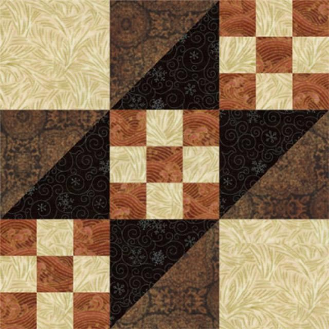 Free Nine Patch Quilt Block Patterns: Road to California Quilt Block Pattern