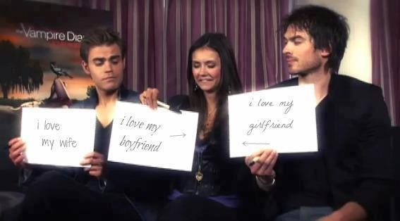 Why does Paul Wesley have to be married? :( and well Ian and Nina are presshhh.
